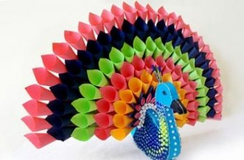 Multicoloured Paper Peacock DIY Project Ideas