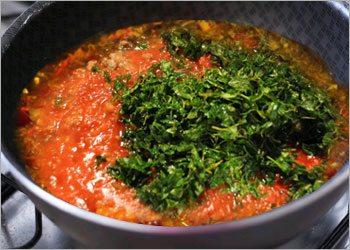 Add herbs and seasoning