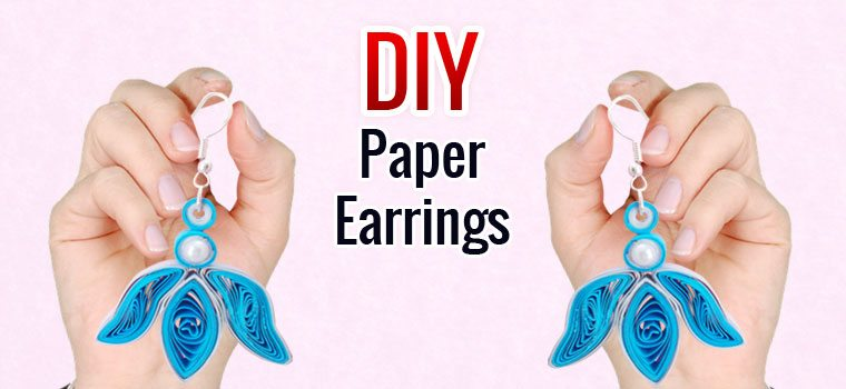 Quilling Earrings DIY Handmade Jewellery