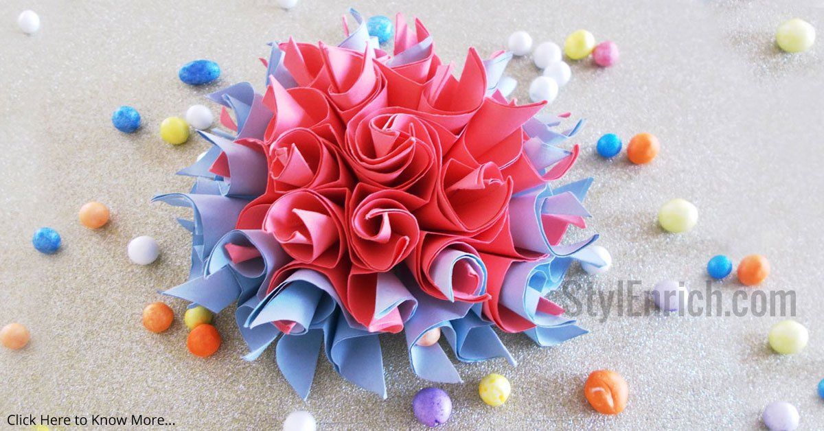 Easy origami flower cool diy crafts for home decorations mightylinksfo