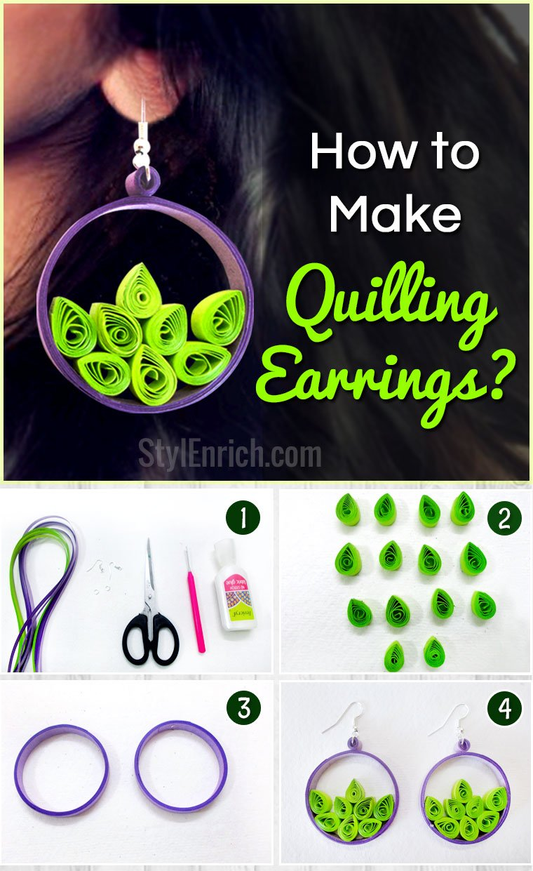 How to make paper quilling earrings