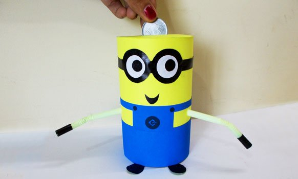Minion crafts how to make diy recycled minion piggy bank