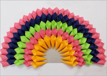 Diy project ideas make paper peacock craft for home decor for Best out of waste with steps