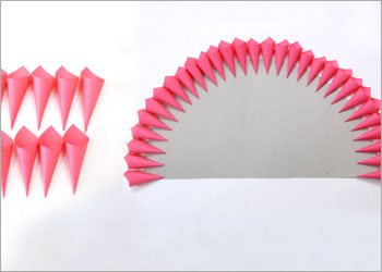 Pink cones feather