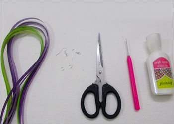 Quilled hoop earrings craft- DIY Paper Jewellery
