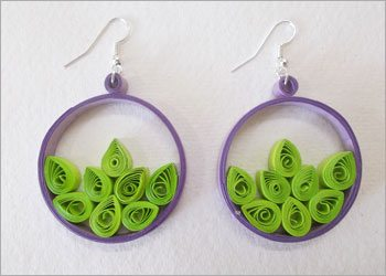 Quilled-hoop-earrings
