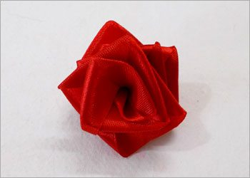 Satin rose for decorations