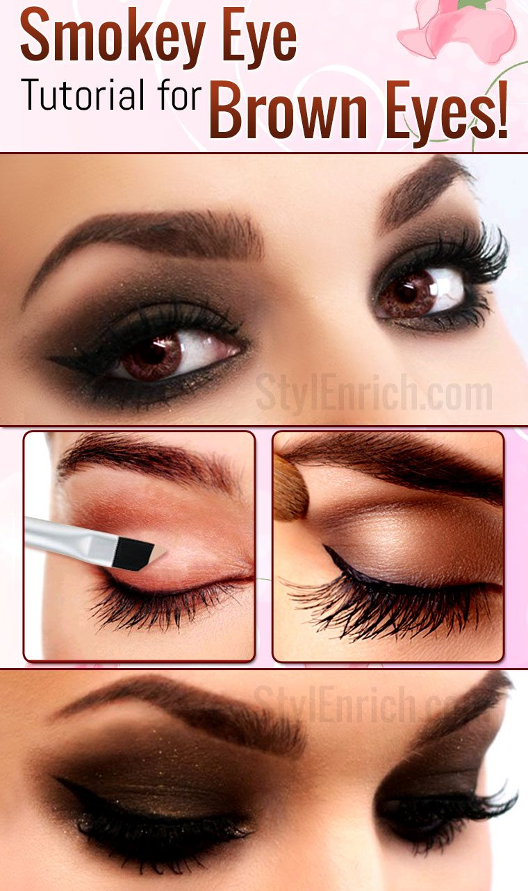 Smokey Eye Makeup : How To Do Smokey Eye Makeup For Brown
