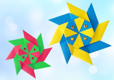 Origami for Kids : How To Make 8 Pointed Transforming Origami Ninja Star