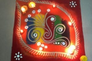 Easy Diwali Rangoli Design for Beginners