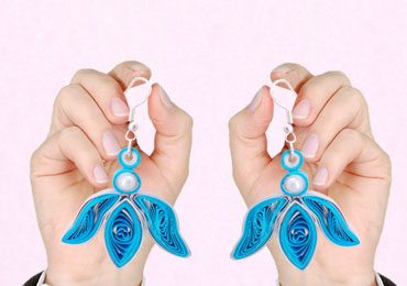 DIY Handmade Jewellery : How To Make Pretty Quilling Earrings in Few Steps!