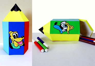 Easy Crafts For Kids : How To Make DIY Pencil Shaped Paper Box!