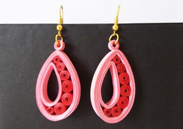 Easy Quilling Earrings DIY Jewellery