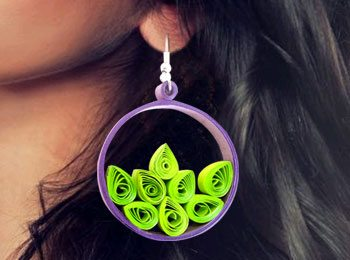 DIY Paper Jewellery: Let's Make Quilling Hoop Earrings!