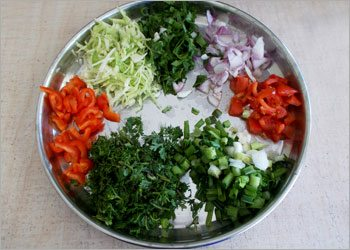 Vegetables-for-ragi-dosa