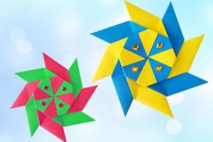 8 Pointed Transforming Origami Ninja Star