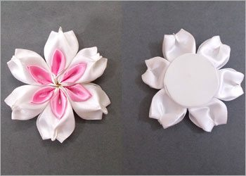 Diy-handmade-satin-ribbon-flower