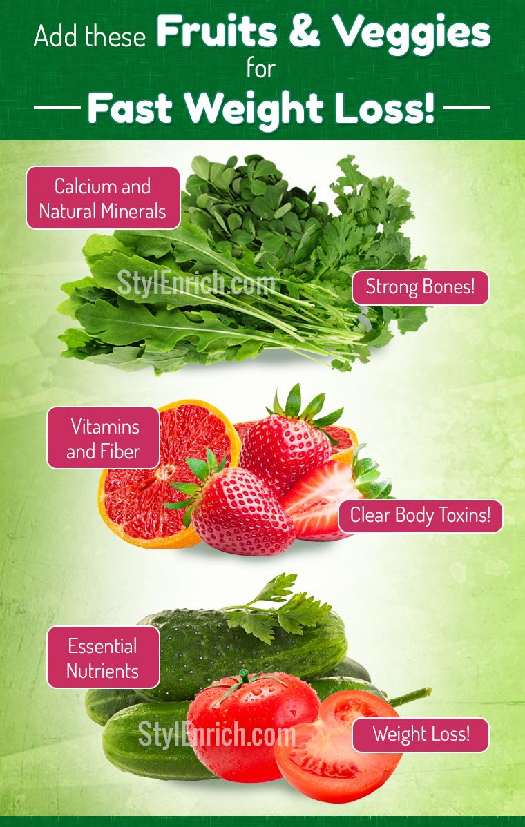 Weight loss diet benefits of veggies and fruits for