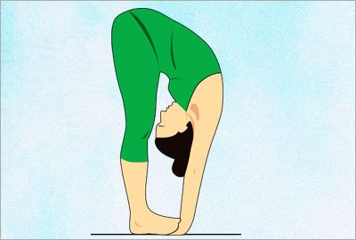 Padahastasana yoga asana