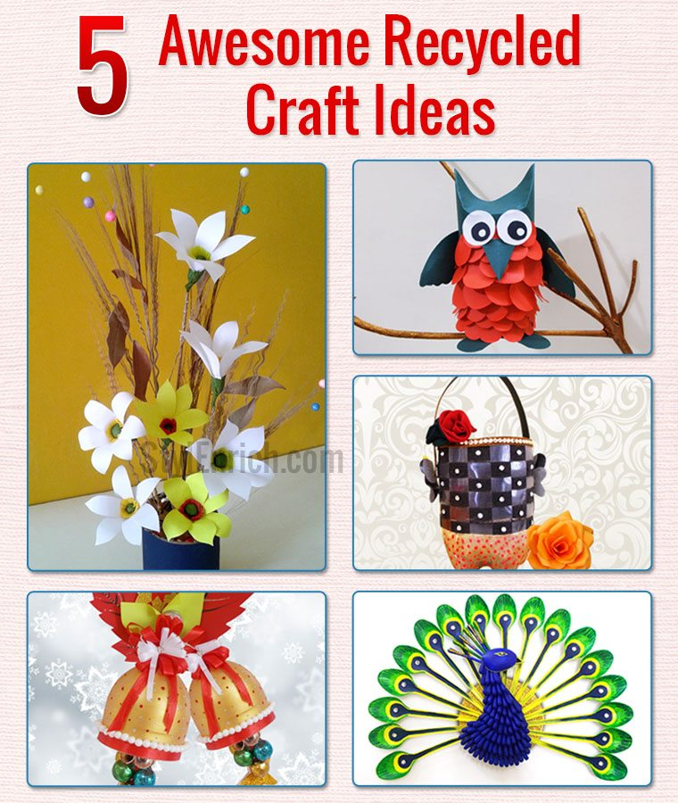 Recycled Diy Crafts 5 Awesome Craft Ideas Just For You