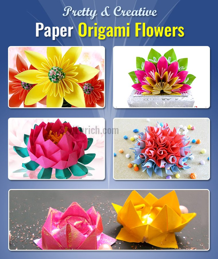 DIY Easy Origami Flowers.