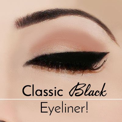 Black Eyeliner Makeup for Green Eyes