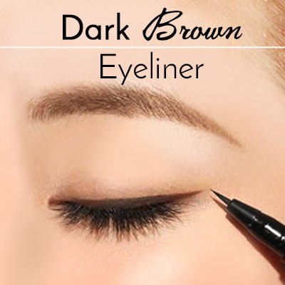 Dark Brown Eyeliner Makeup for Green Eyes