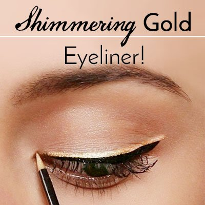 Gold Eyeliner Makeup for Green Eyes