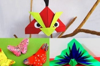 5 DIY 3D Origami Birds and Animals For Kids!