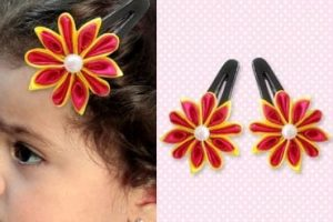 Cute DIY Satin Flower Hair Clips