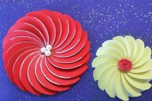 Spiral Flowers Paper Crafts