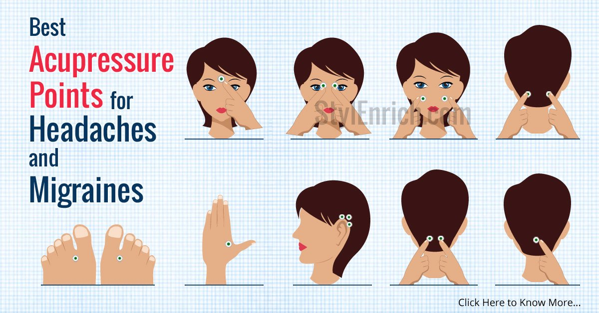 Acupressure Points For Headache Amp Migraines For Quick Relief