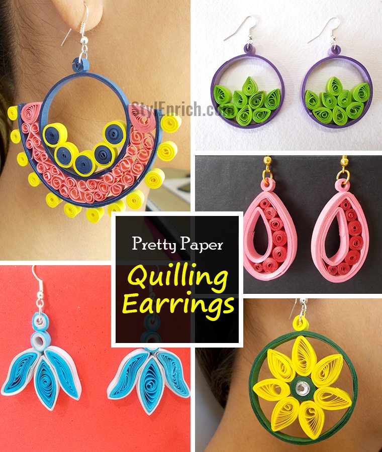 Handmade Earrings Easy Quilling Projects
