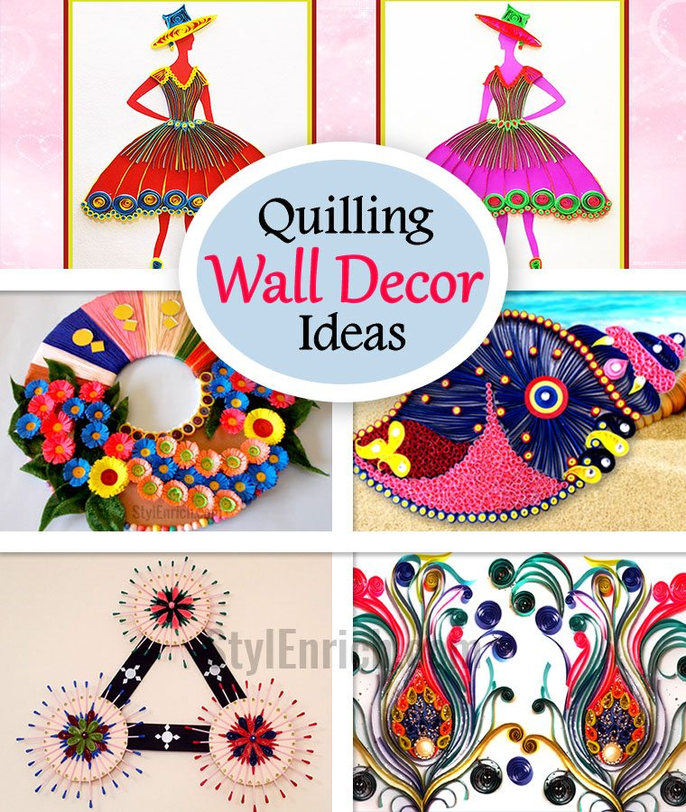 Quilling Wall Art Design : Quilling wall art super brilliant decor