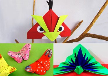3D Origami Kid's Project : 5 Fun & Easy DIY Origami Birds and Animals!