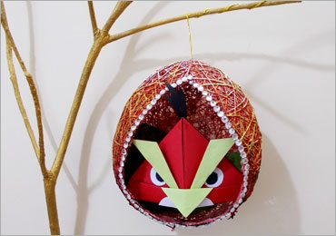 DIY Crafts for Kids : How to Make DIY String Balloon Craft Nest