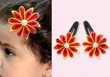 How To Make Cute DIY Satin Flower Hair Clips?