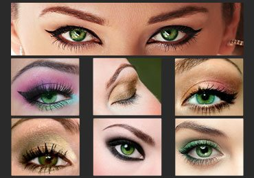 Step by Step Makeup for Green Eyes!