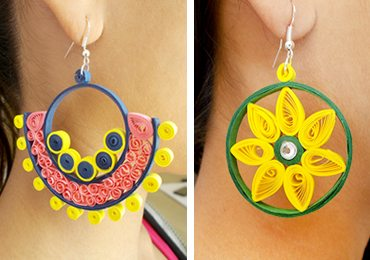 Easy Quilling Projects : 5 in 1 Pretty Paper Quilling Earrings!