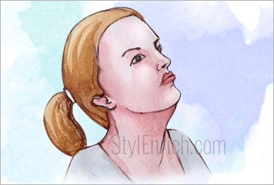 Chin-lift-exercise