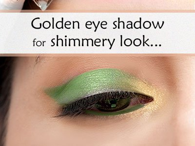 Golden Shadow For Green Eyes