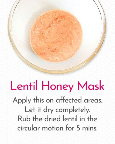 Lentil Honey Mask to Remove Hair on Face