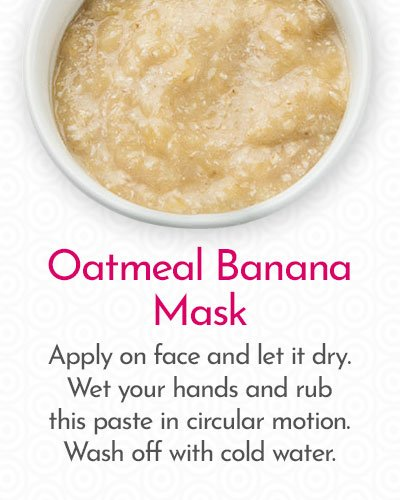 Oatmeal Banana Mask to Remove Hair on Face