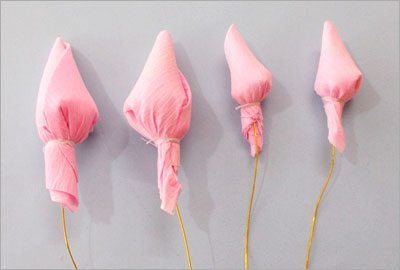 Crepe-paper-buds
