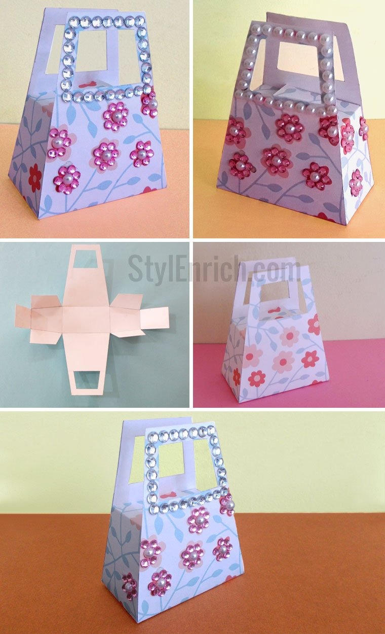 Handmade Paper Baskets Step By Step : Diy paper gift bag how to make small for your