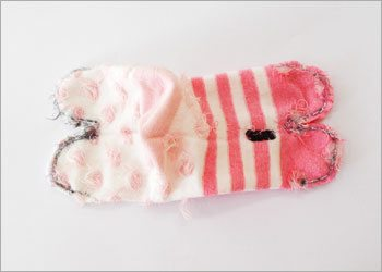 Diy socks cat craft