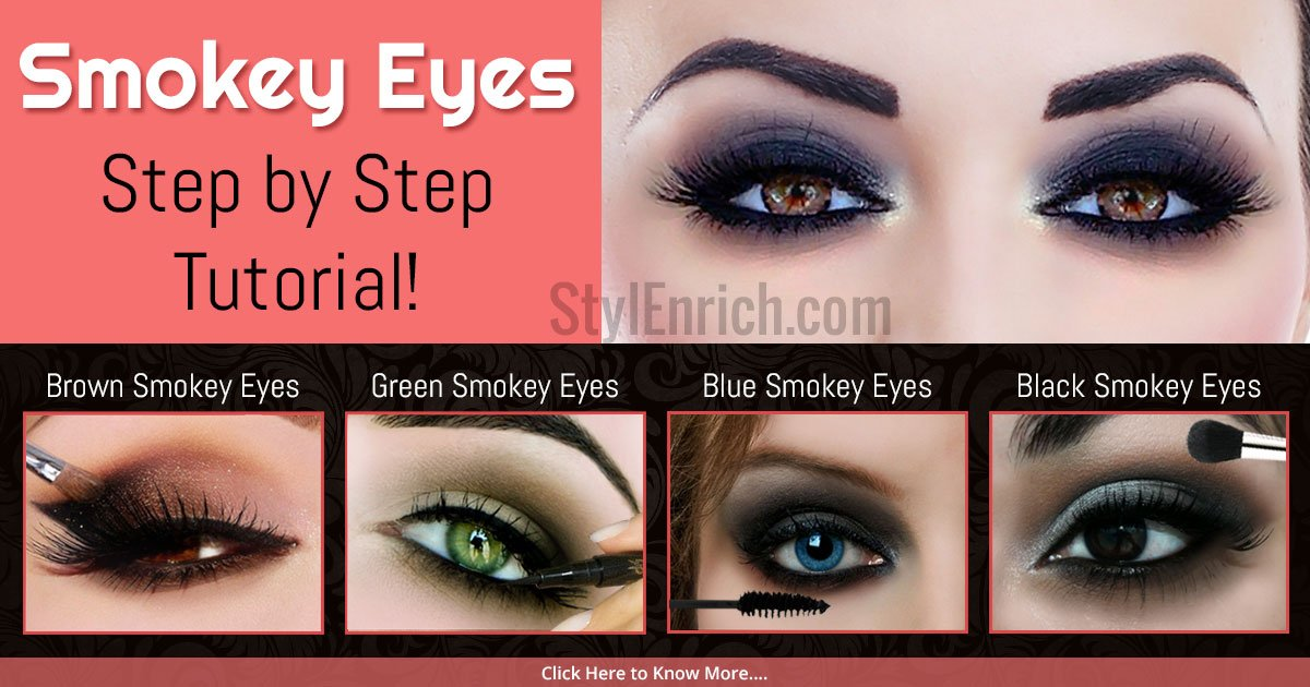 Smokey Eyes Makeup - Step by Step Tutorial For Beginners
