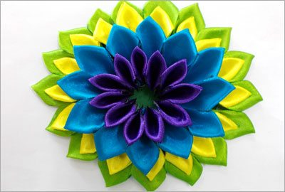 Satin flower second third layer