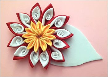 Satin ribbon flower crafts