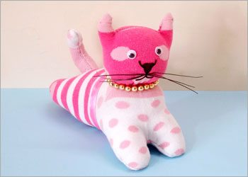 stuffed cat diy kids craft